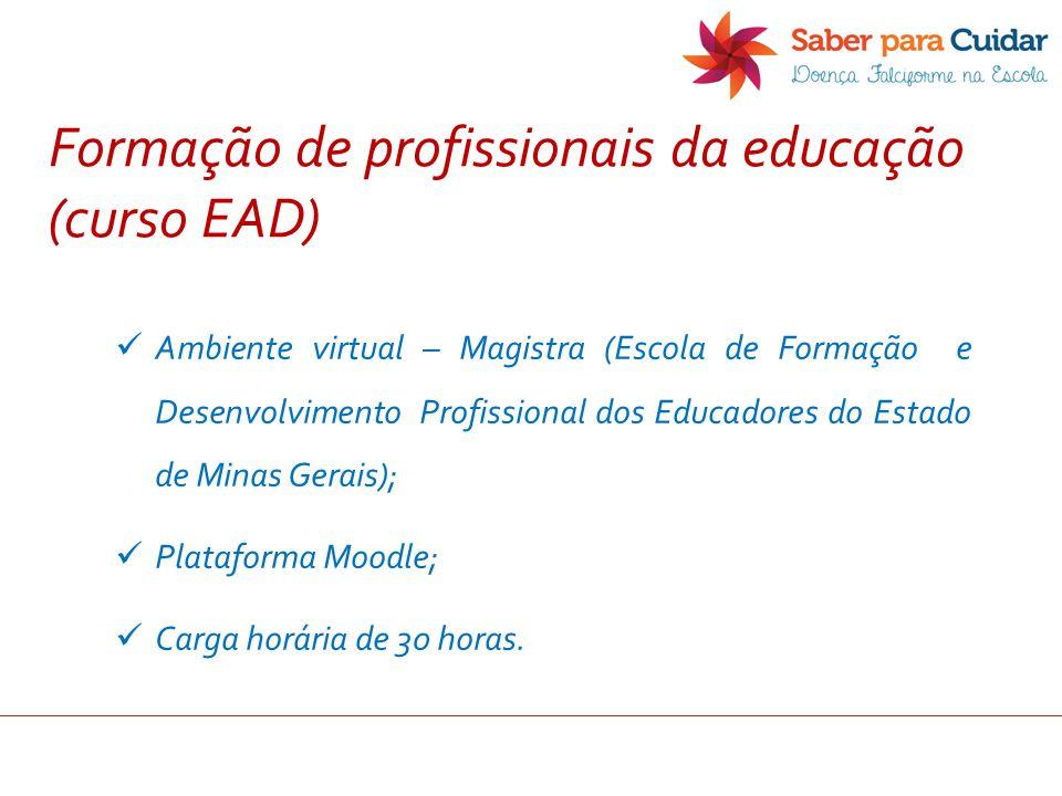 Formação de profissionais da educação (curso EAD)