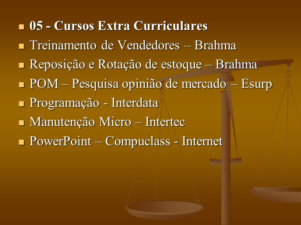 05 - Cursos Extra Curriculares