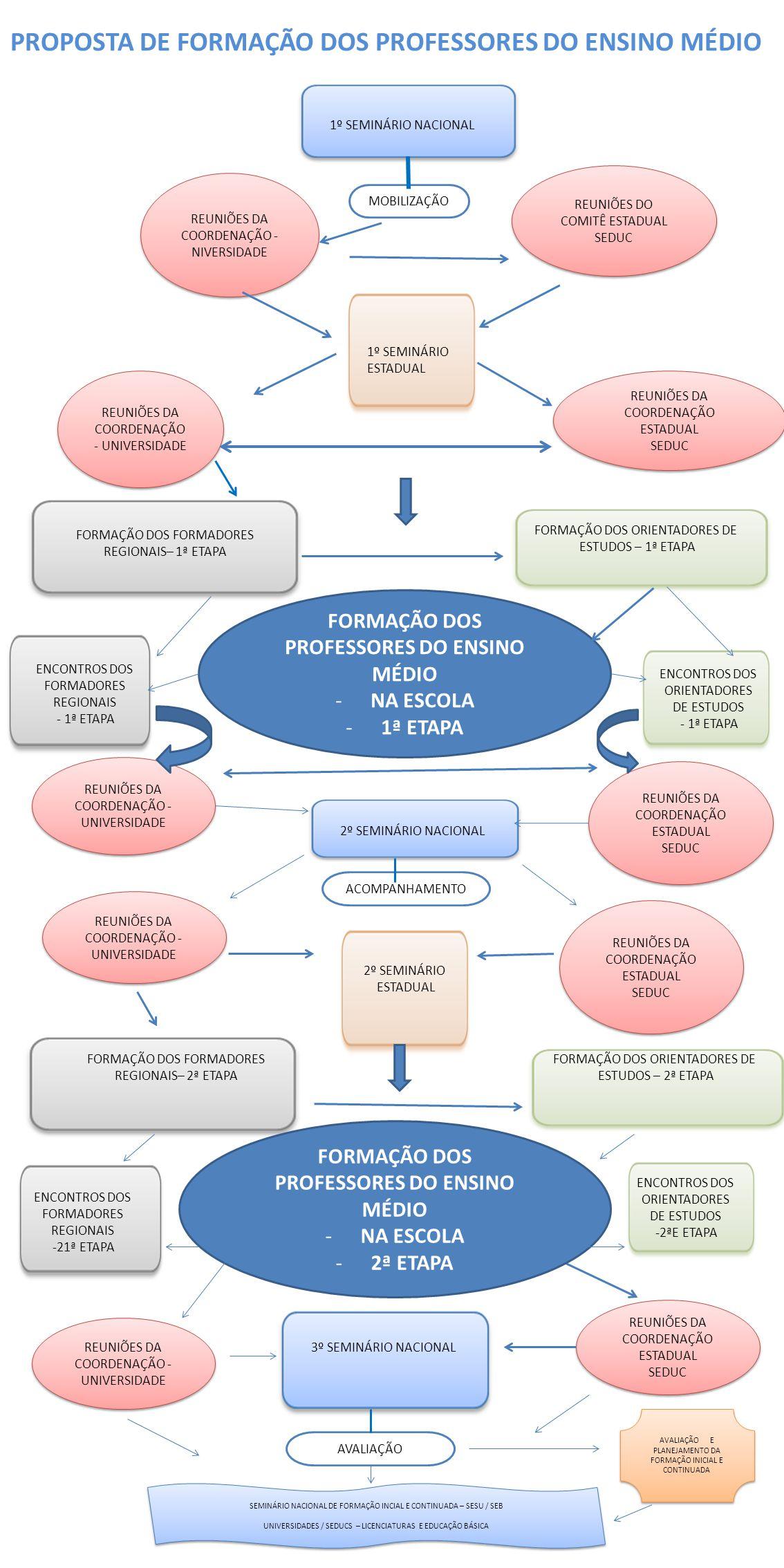 PROPOSTA DE FORMAÇÃO DOS PROFESSORES DO ENSINO MÉDIO