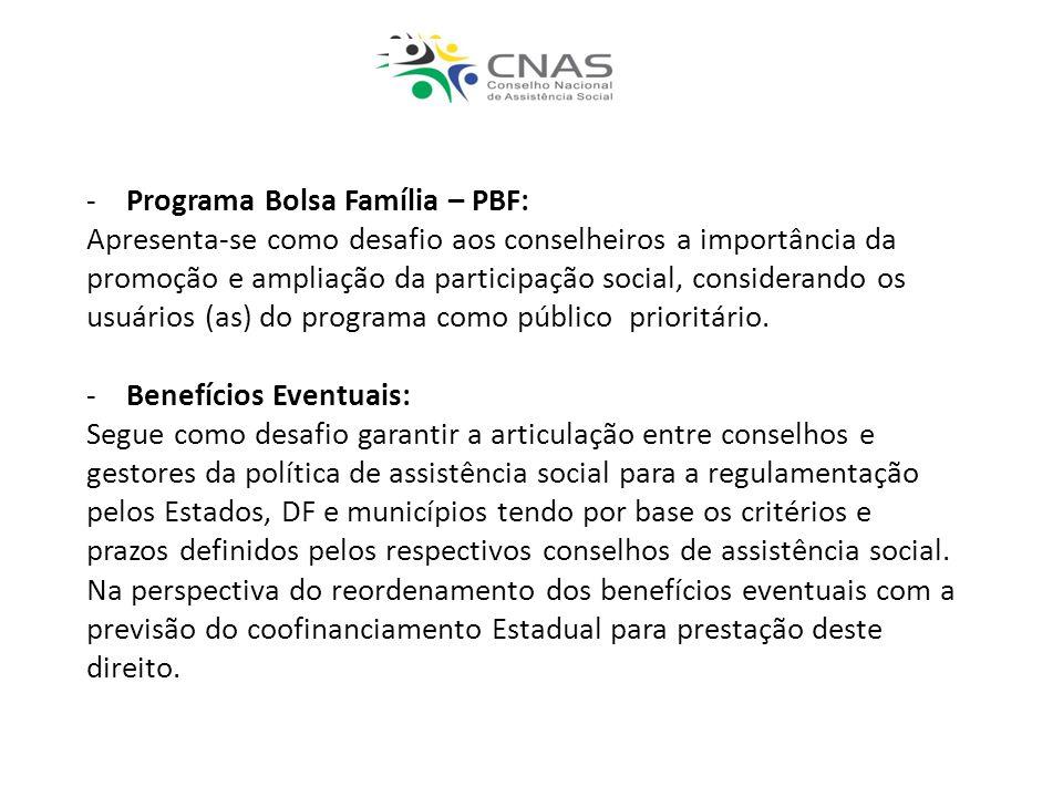 Programa Bolsa Família – PBF:
