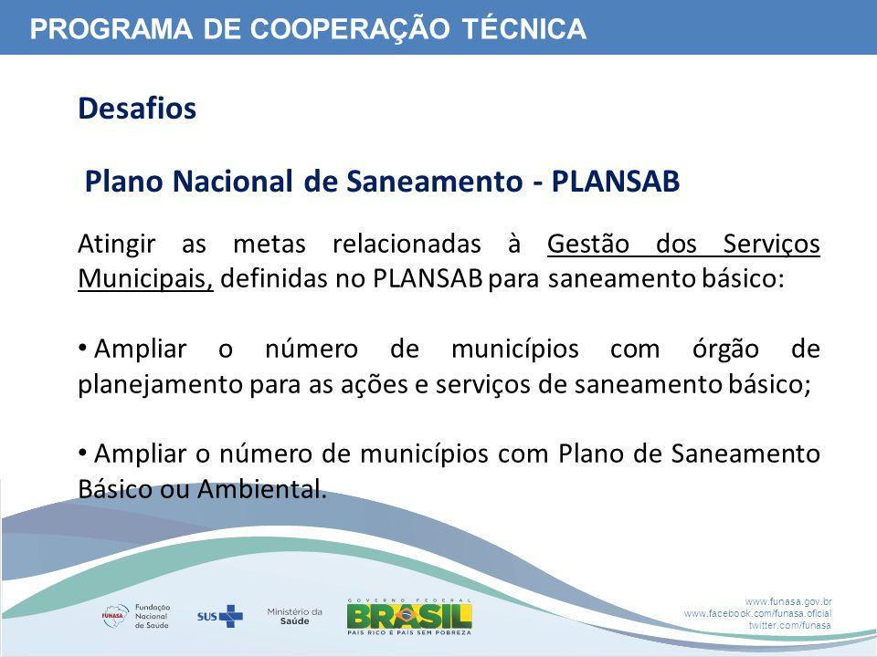 Plano Nacional de Saneamento - PLANSAB