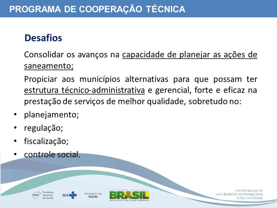 PROGRAMA DE COOPERAÇÃO TÉCNICA
