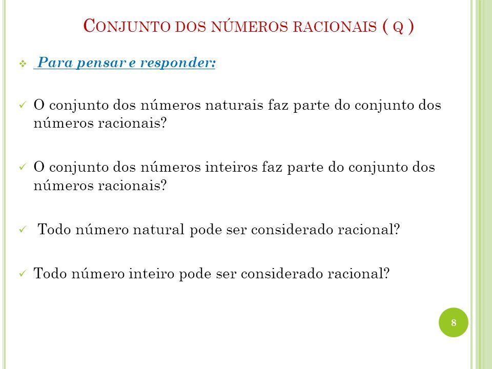 Conjunto dos números racionais ( q )
