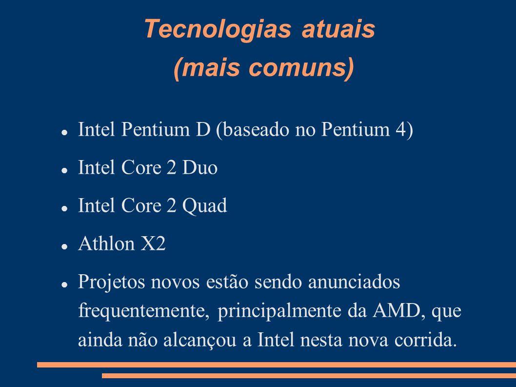 Tecnologias atuais (mais comuns)