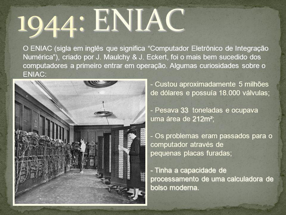 1944: ENIAC
