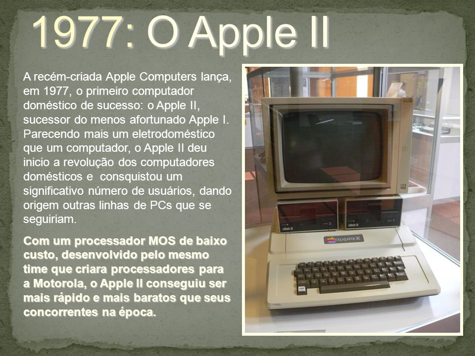 1977: O Apple II