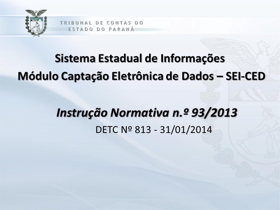 Instrução Normativa n.º 93/2013