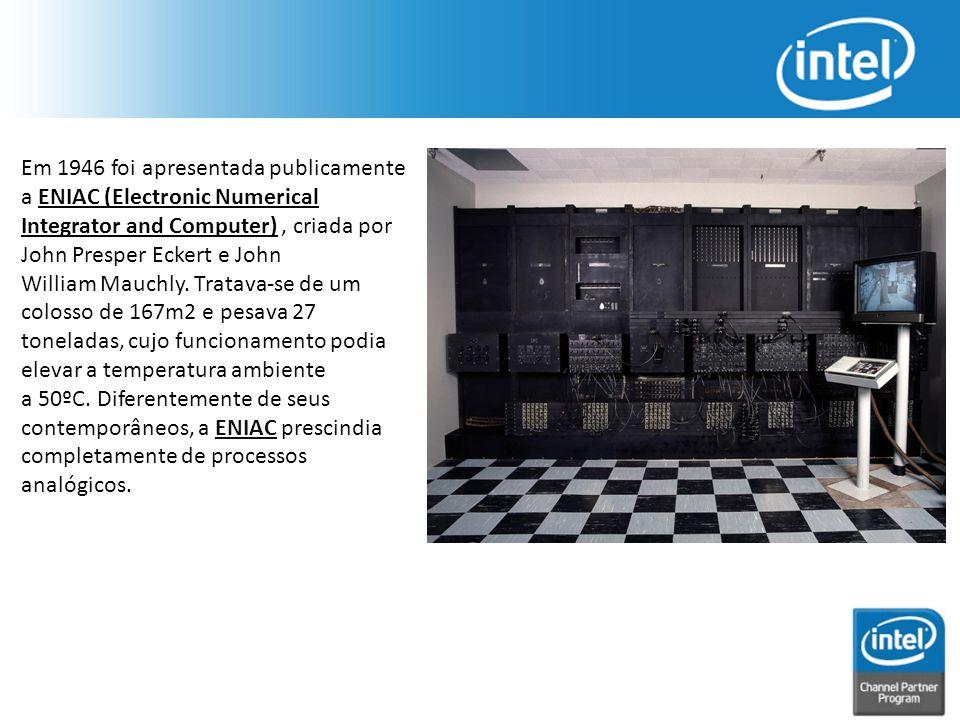 Em 1946 foi apresentada publicamente a ENIAC (Electronic Numerical