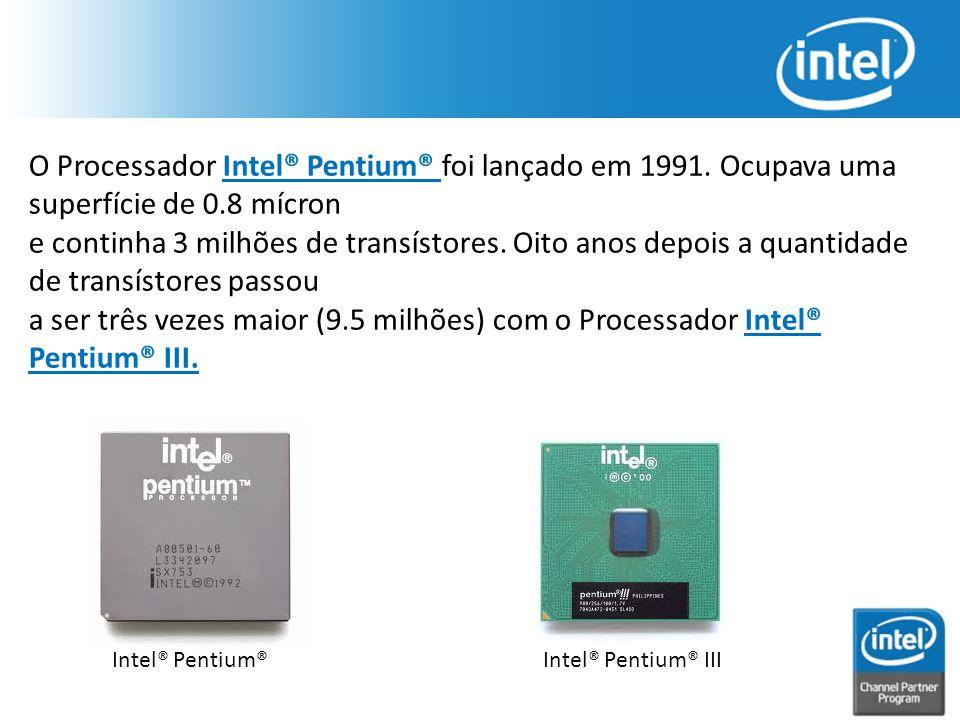 O Processador Intel® Pentium® foi lançado em 1991