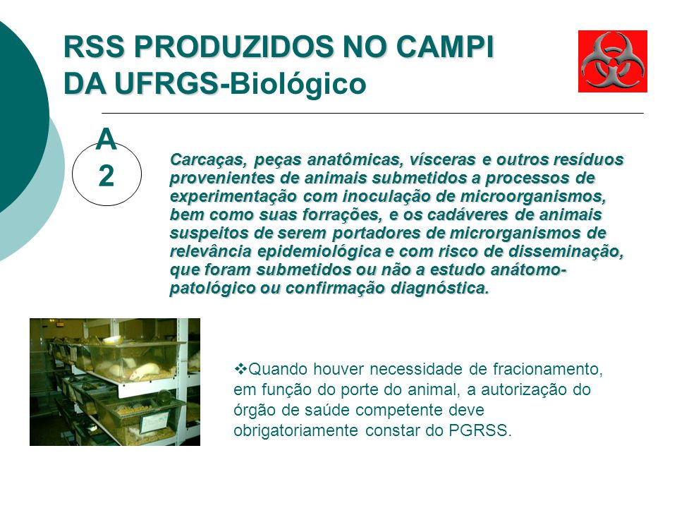 RSS PRODUZIDOS NO CAMPI DA UFRGS-Biológico