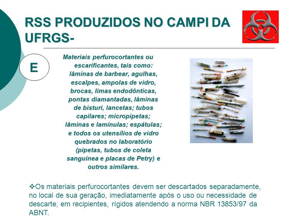 RSS PRODUZIDOS NO CAMPI DA UFRGS-