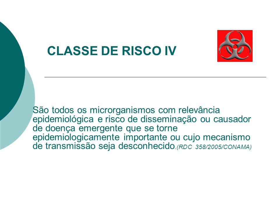 CLASSE DE RISCO IV