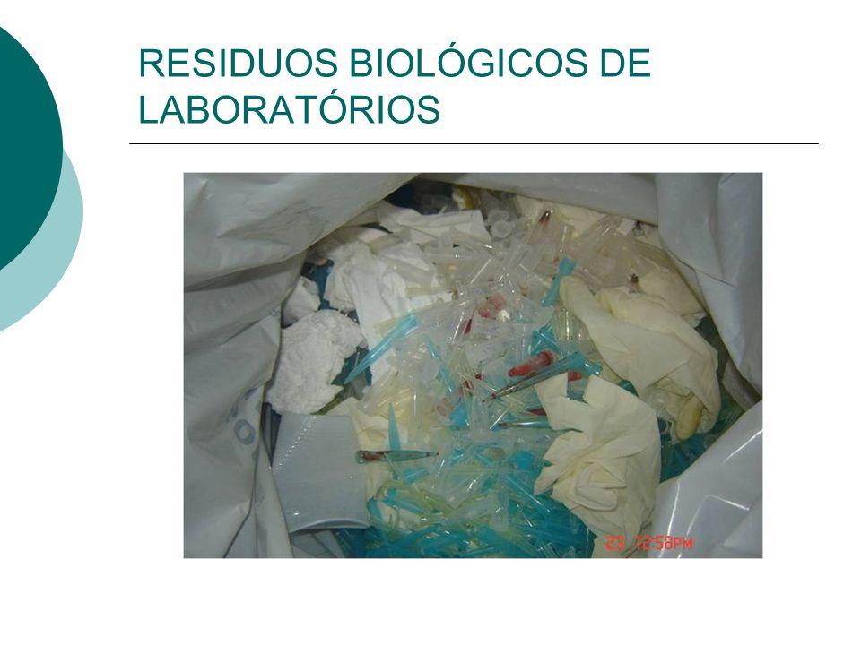 RESIDUOS BIOLÓGICOS DE LABORATÓRIOS