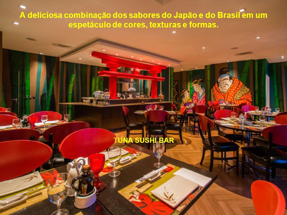 A deliciosa combinação dos sabores do Japão e do Brasil em um espetáculo de cores, texturas e formas.