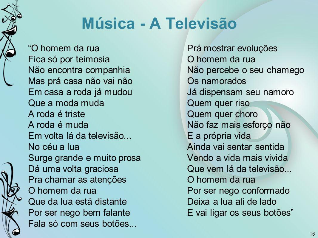 Música - A Televisão