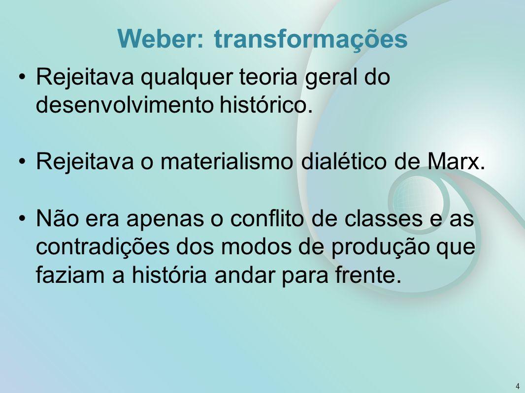 Weber: transformações
