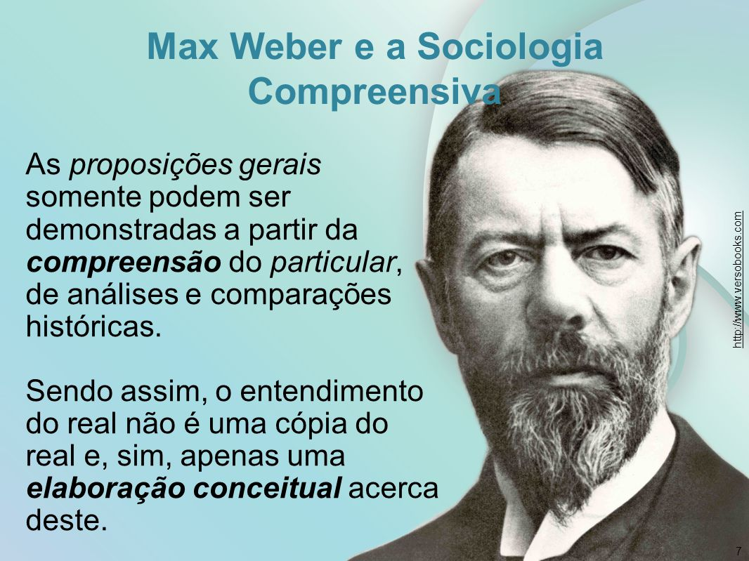 Max Weber e a Sociologia Compreensiva