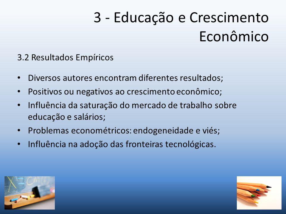 3 - Educação e Crescimento Econômico