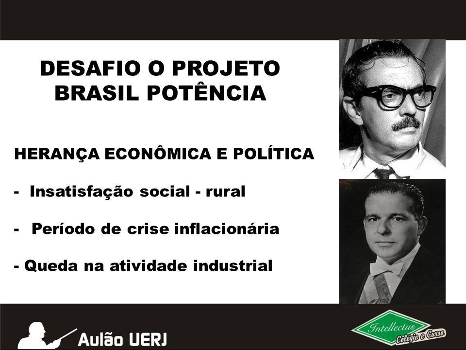 DESAFIO O PROJETO BRASIL POTÊNCIA