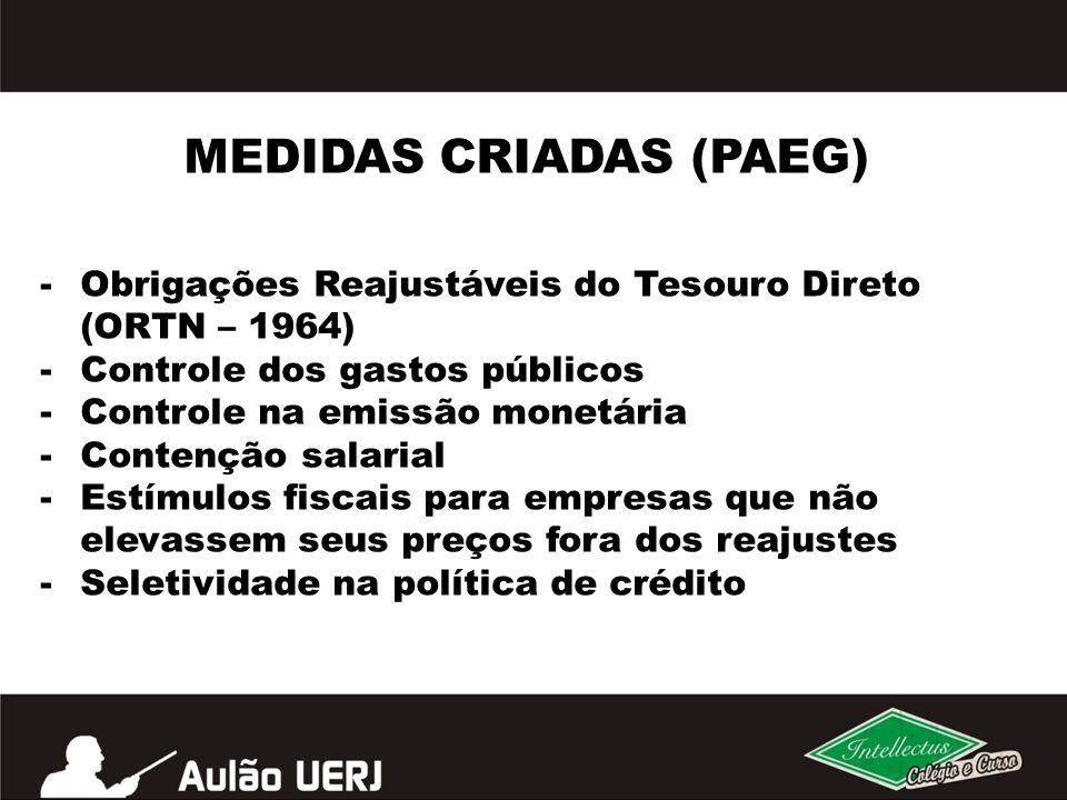 MEDIDAS CRIADAS (PAEG)