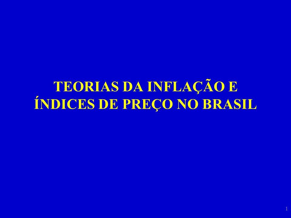 TEORIAS DA INFLAÇÃO E ÍNDICES DE PREÇO NO BRASIL