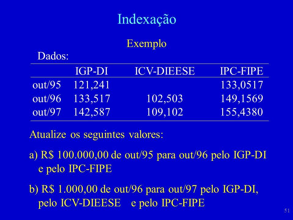 Indexação Exemplo Dados: