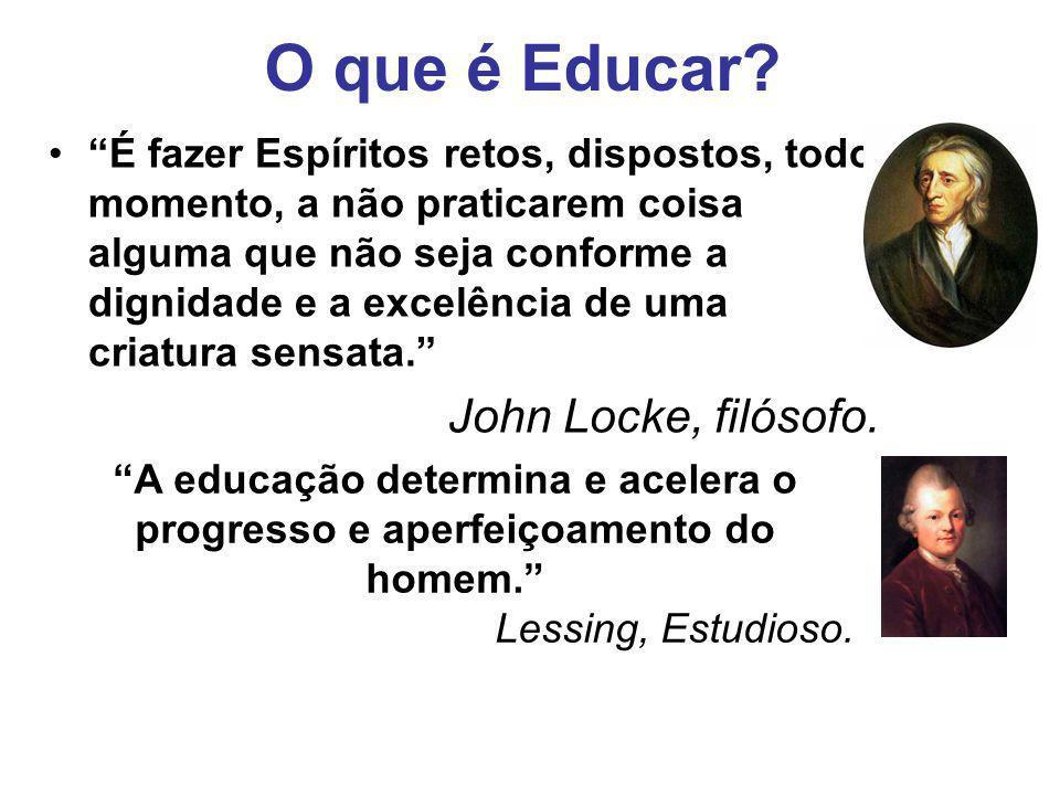 O que é Educar John Locke, filósofo.