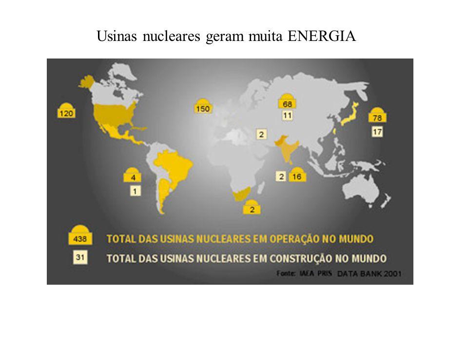 Usinas nucleares geram muita ENERGIA