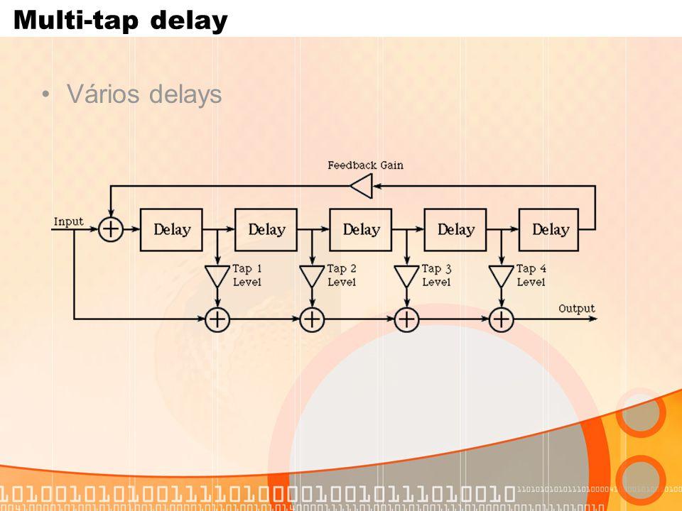 Multi-tap delay Vários delays