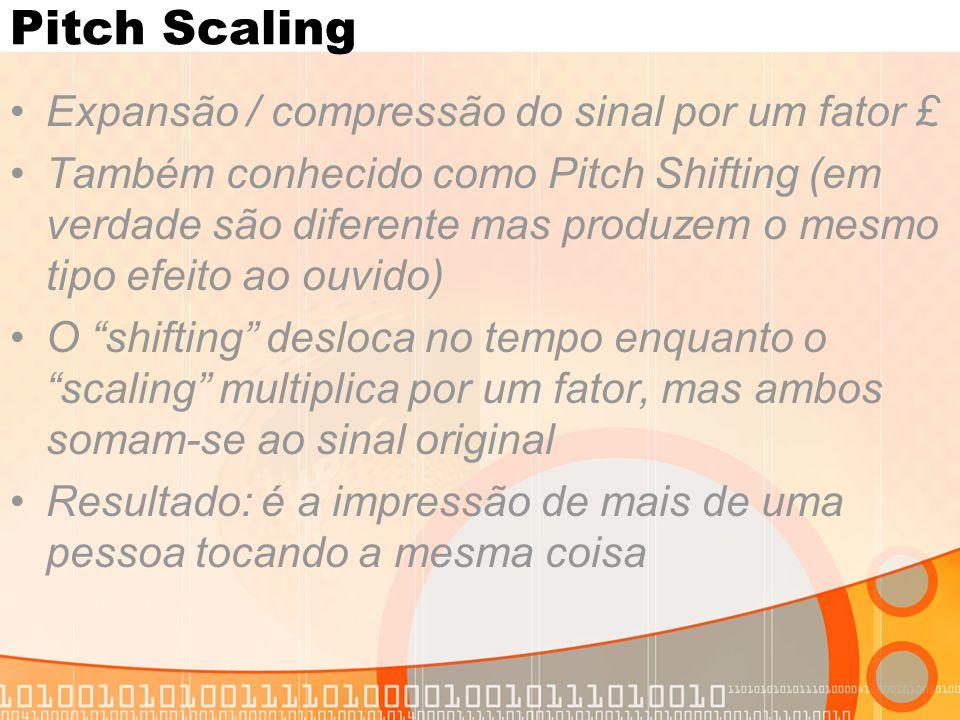 Pitch Scaling Expansão / compressão do sinal por um fator £