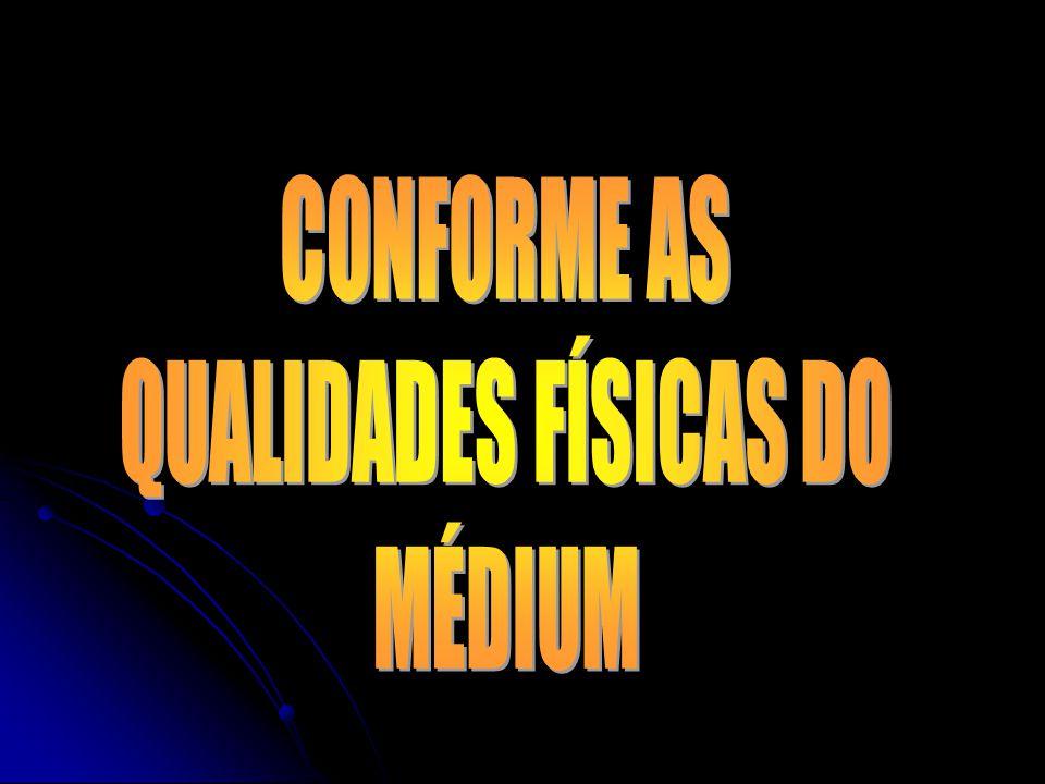 CONFORME AS QUALIDADES FÍSICAS DO MÉDIUM