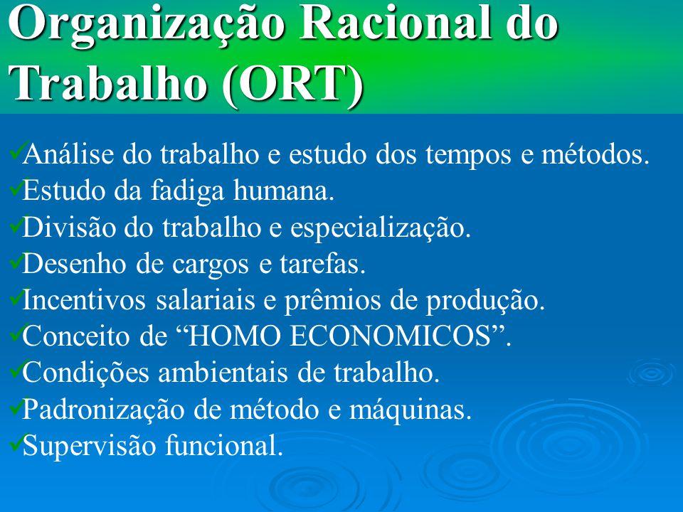 Organização Racional do Trabalho (ORT)