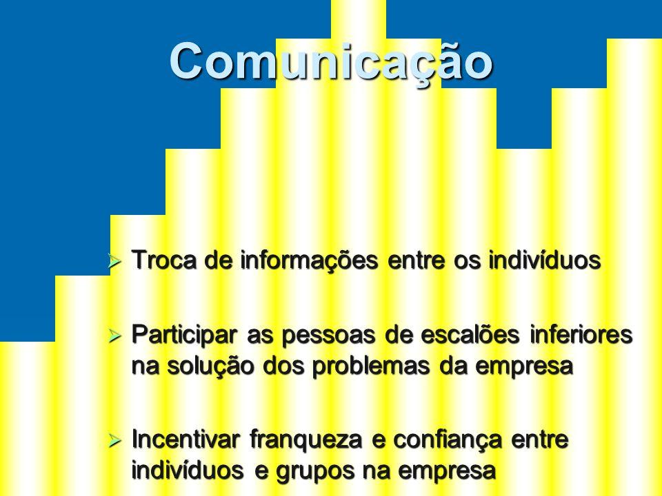 Comunicação Troca de informações entre os indivíduos