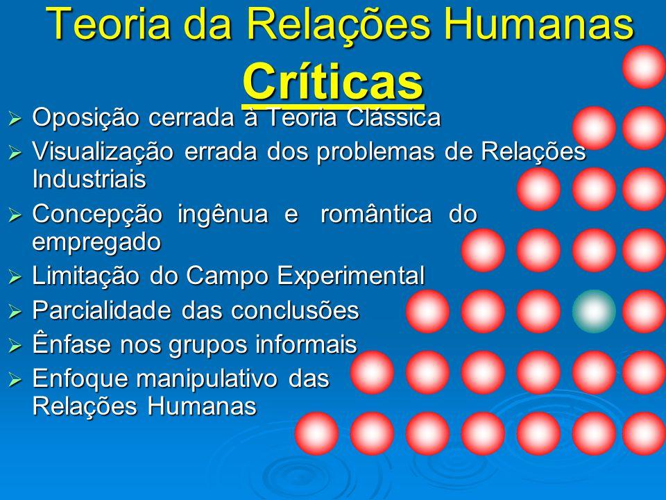 Teoria da Relações Humanas Críticas