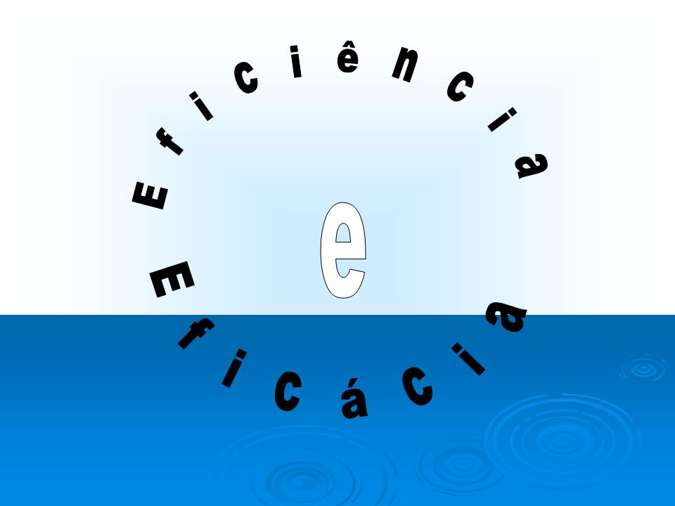Eficiência Eficácia e