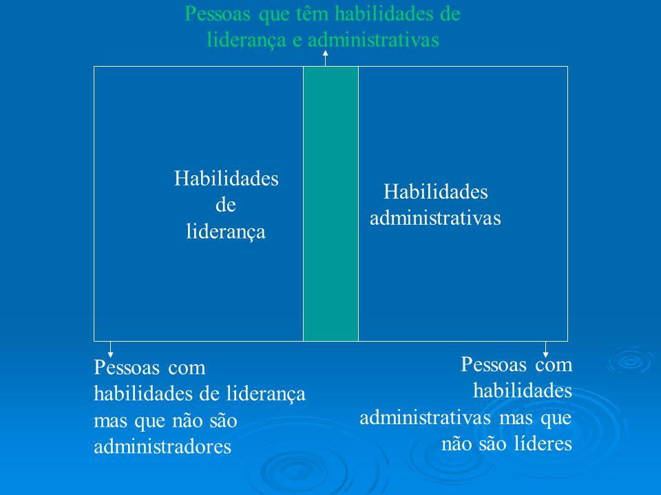 Pessoas que têm habilidades de liderança e administrativas