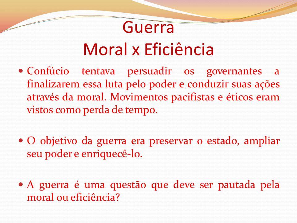 Guerra Moral x Eficiência