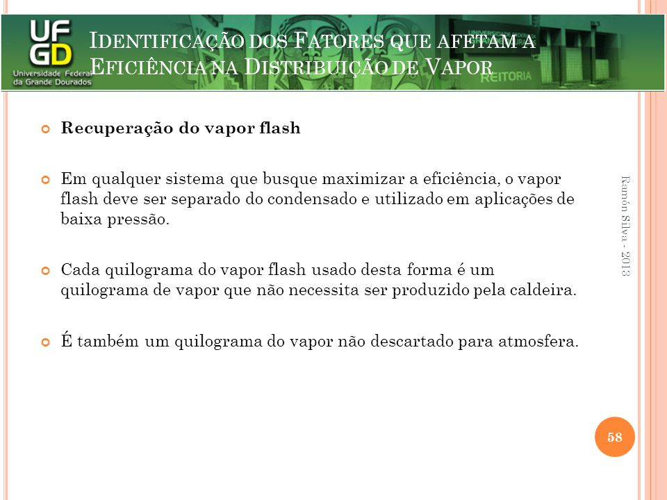 Recuperação do vapor flash
