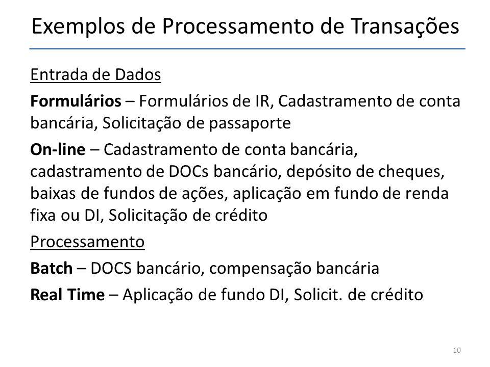 Exemplos de Processamento de Transações