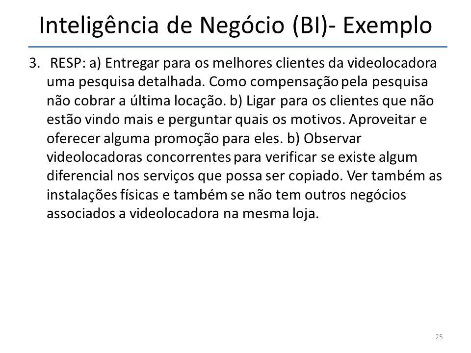 Inteligência de Negócio (BI)- Exemplo
