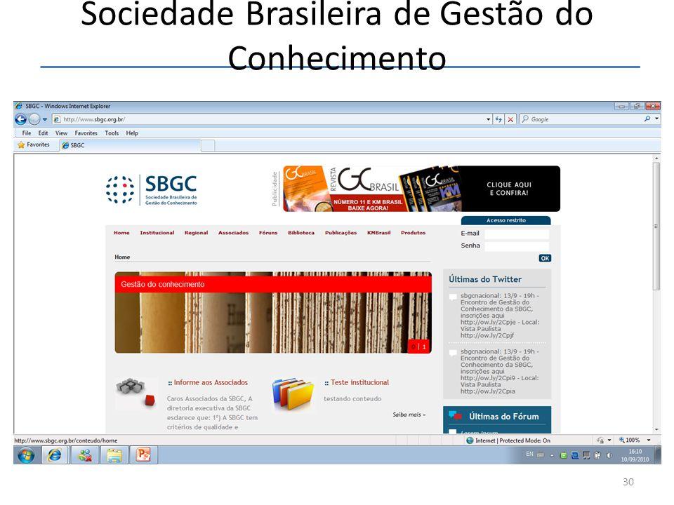 Sociedade Brasileira de Gestão do Conhecimento