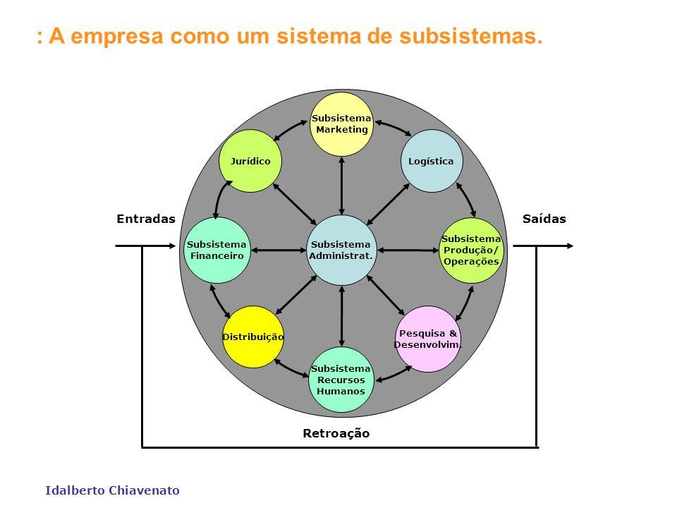 : A empresa como um sistema de subsistemas.