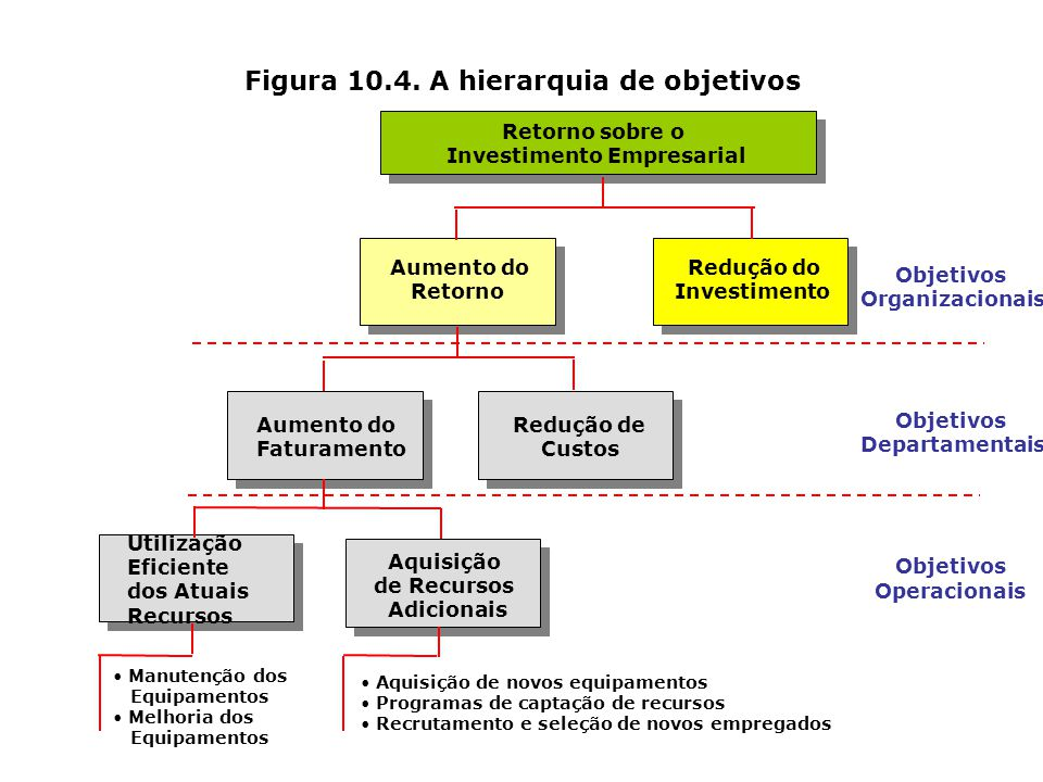 Figura 10.4. A hierarquia de objetivos
