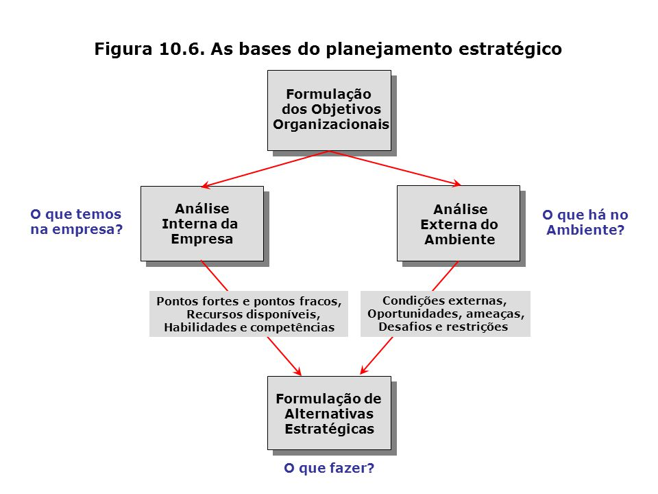 Figura 10.6. As bases do planejamento estratégico