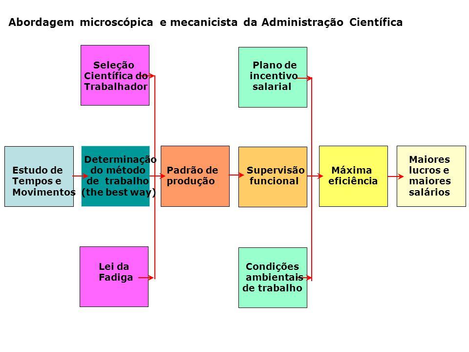 Abordagem microscópica e mecanicista da Administração Científica
