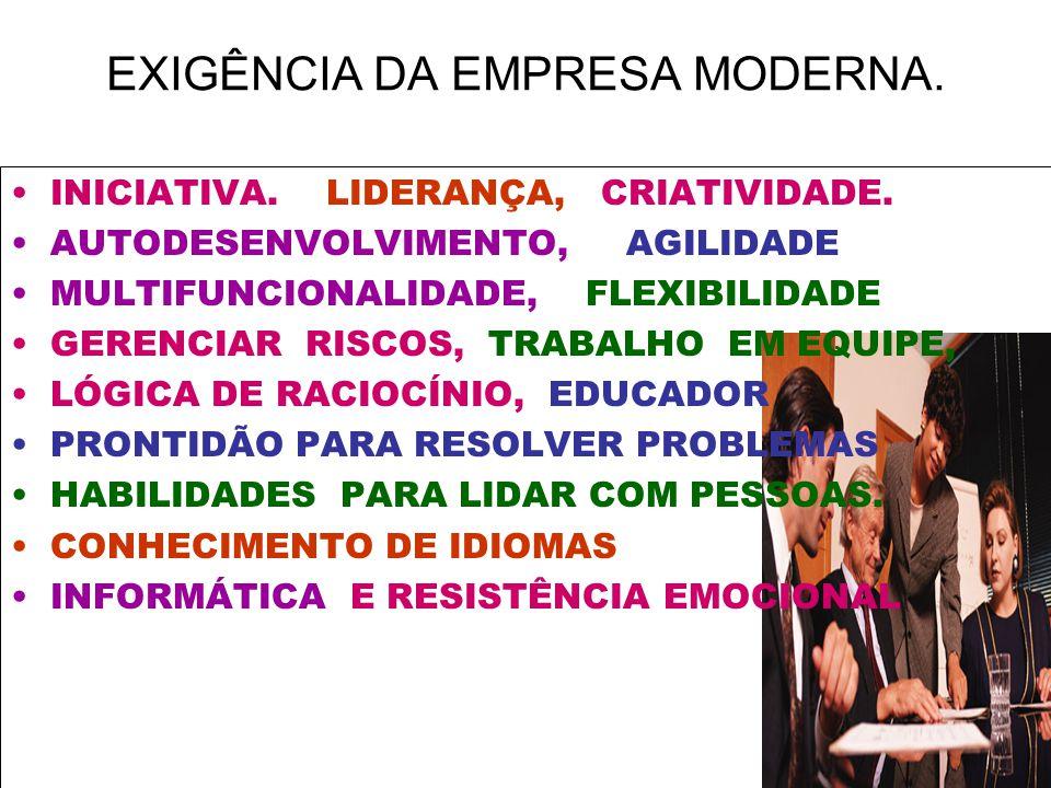 EXIGÊNCIA DA EMPRESA MODERNA.