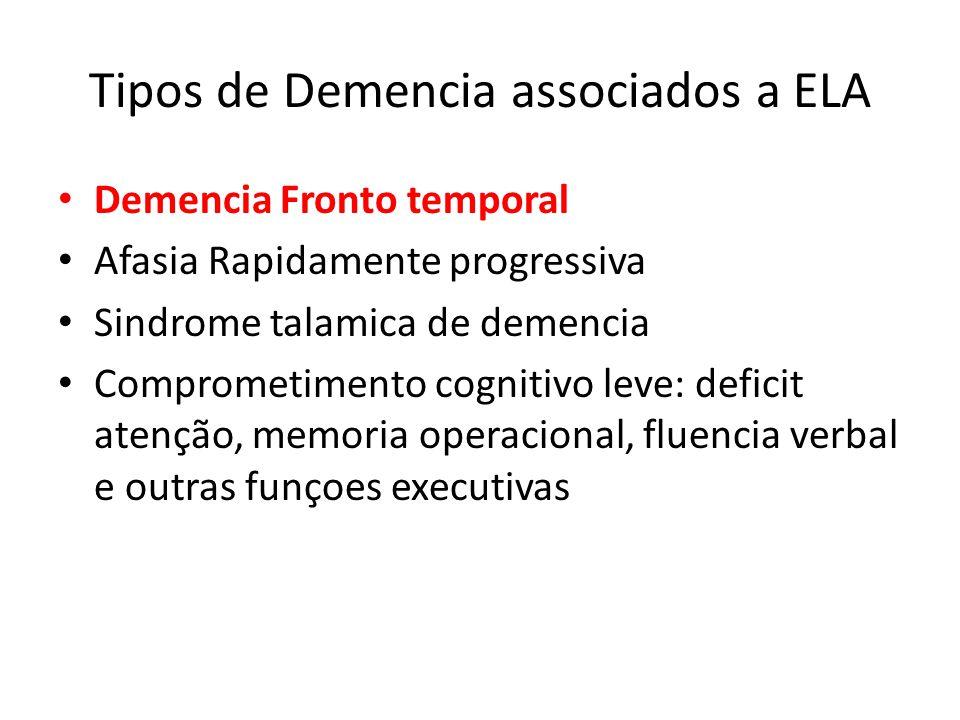 Tipos de Demencia associados a ELA