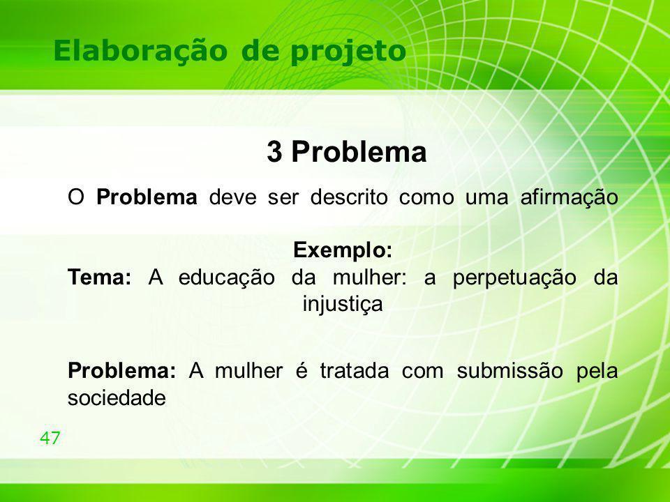 3 Problema Elaboração de projeto