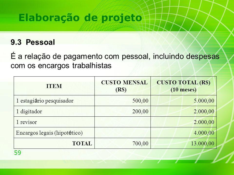CUSTO TOTAL (R$) (10 meses)