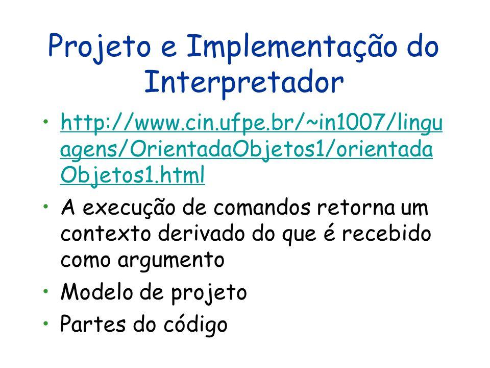Projeto e Implementação do Interpretador